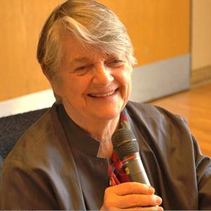 Barbara Sher with mic