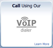 VoIP Dialer button on freeconferencing.com