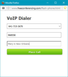 VoIP Dialer sign-in form