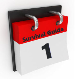 Survival Guide calendar, day 1