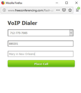 Freeconferencing.com VoIP login