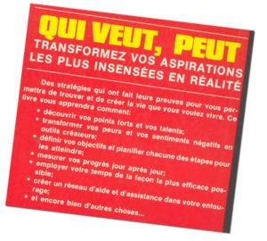 Qui Veut, Peut back cover